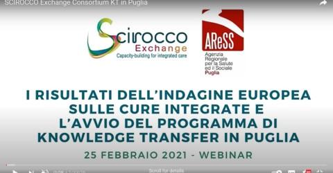 SCIROCCO Exchange Consortium Knowledge Transfer in Puglia